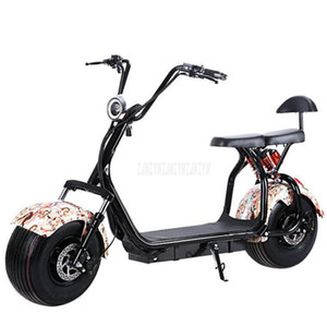 Big 2 Wheel New Electric Vehicle Adulto Pedal Bicicleta elétrica da motocicleta Scooter com assento Quilometragem 40 km 1000W Um tipo / B