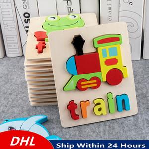 3D اللغز الكرتون الحيوان ألعاب خشبية للأطفال لغز خشبي الاستخبارات لعبة أطفال ألعاب تعليمية لعبة التدريب
