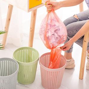 Trash Can plastique cuisine Accueil Poubelle débris de stockage creux Poubelle Poubelle seau déchets sac à ordures Distributeur cubo basura