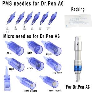 Remplacement Micro aiguille Cartouches Conseils pour auto électrique rechargeable sans fil A6 Dr Pen Derma Pen Micro rouleau Soins de la peau thérapie MTS PMU