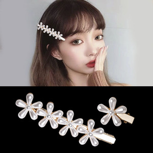Japanese And Korean-Style Old Fashion Flower Xian Qi Hairpin Side Clip Womens Hair Accessories Headdress Bridal Duckbill Clip Sweet Simple J