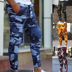 Attivi Designer pantaloni stile Mens Moda Camouflage Quick Dry fitness Long Pants Mens Street Style Sweatpants