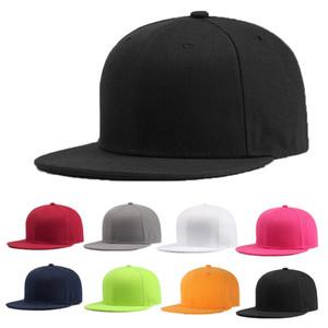 Boné de beisebol esportivo em branco liso sólido snapback bola de golfe chapéu hip-hop homens mulheres