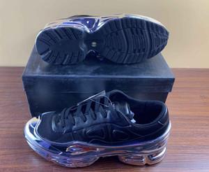 Los zapatos del diseñador de moda barato para hombre transparente único peso ligero Ozweego Mujeres tenis ocasionales Bajo plana superior Raf Simons zapatillas de deporte