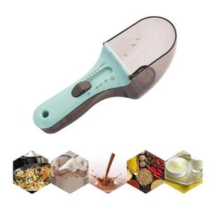 10 adet Plastik Ayarlanabilir Spice Kaşık Mutfak Pişirme Ölçek Ölçme Ölçer Pişirme Ayarlanabilir Ölçme Scoop Mutfak pişirme araçları