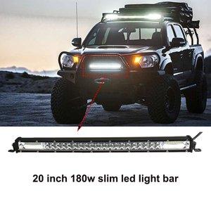ECAHAYAKU 180W 21 POUCES Étanche IP67 mince travail Light LED Barres de lumière COMBO Faisceau pour le Travail Conduite Offroad Bateau Voiture Tracteur Camion ATV