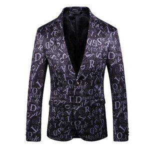 New Mens designer Men Clothing Luxury Designer Mens Blazer letter print Jacket Stylish Fancy Brand floral Males button Slim Suits Blazers