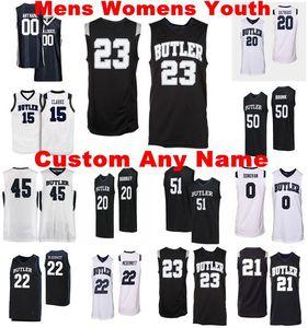 NCAA Butler Bulldogs maglie Bryce d'oro Jersey Hastings Sean McDermott John-Michael Mulloy Nzé College Basketball Wears personalizzato cucito