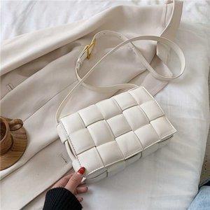 Jin Mantang Piccolo Weave Flap Borse per la spalla di cuoio delle nuove donne di modo di buona qualità Borsello in estate femminile Borse