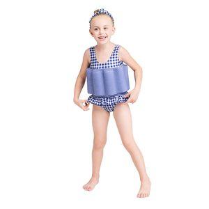 Floating Swimming Suit with Buoyancy Sticks Detachable Floating Training Bathing Suit Swimsuit Infant Swimwear for Girls