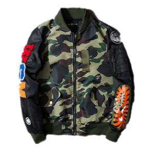 Mens di marca Tiger Shark Capo Apes Giacche a vento sportivo Marks Zipper cappuccio cappotti da uomo Outwear Nord giacca perfetta M-3XL
