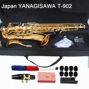 colpo vero professionista Yanagisawa T-902 T-WO2 tenore vernice sassofono strumento in ottone dorato di alta qualità Bb sax tenore con gli accessori