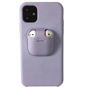 casi di telefono auricolare 2in1 copertura Airpods e Liquid Silicone Case TWS Bluetooth per iPhone Pro 11 Max XS Max XR XS X 8 7 Plus MQ200