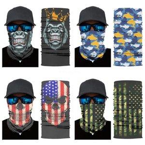 Magic Skull Scarf Bike Motorcycle Helmet Face Mask Half Mask Cs Ski Headwear Neck Cycling Pirate Headband Hat Cap Halloween Mas #778#174