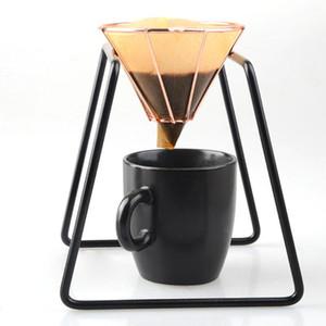 Edelstahl Kaffeefilterständer Halter Übergießen Kaffee Brühen DripMetal Kaffee Tee Filterkorb Werkzeug