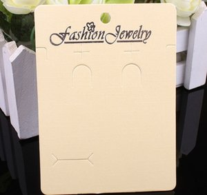 2020 hot sale Packaging Paper Jewelry packaging card Necklace Earring Ring Ring card board Beige pearlescent cardboard 8cm * 11cm