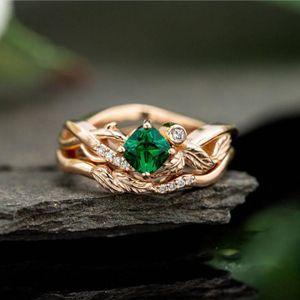 Simples anéis de noivado Campeonato Designer de jóias da Square Folha Lady Signet Cubic Zirconia Harley Amor Anel