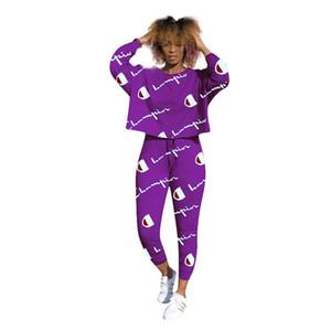 Maillots de bain femme Luxus T Shirt Pantalons Ensemble 2 pièces Ensemble de survêtement Sportswear Femme Tenue Automne Outfit envoyer gratuitement