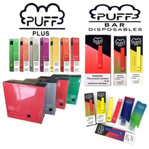 Sigarette e-sigarette e-sigarette monouso precompilati Plus Ecig fumare Penna vape Pod Device cartucce VAPE E-Sigarettes MOD PUFF GLOW BAR SFONDE