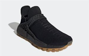 Newest Pharrell Williams PRD HU TRAIL Human Race Man Women Running Shoes EG7836 Core Black Utility Black Gum Pack Yellow White With Box