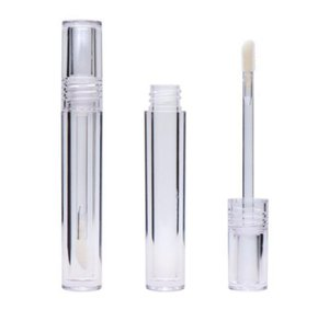 50pcs Empty 7.8ML Lipgloss Tubes Round Transparent Crystal Lip Gloss Tubes With Wand Empty Lip Gloss Tubes Clear Fast Shipping