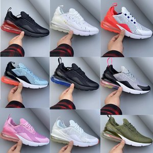 NIKE AIR MAX 270 Soyez vrai 27c Enfants Jeunes Hommes Femmes Lacets Chaussures de course Hot BlacK punch Big Boys Filles Athletic Formateurs Chaussures de sport