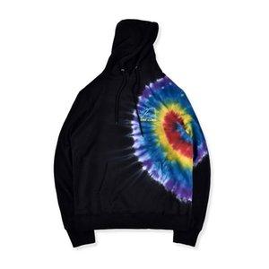 19FW Fashion Autumn USA Travis Scott Astroworld Europe Tour Tie Dye Dragonfly Skateboard Hoodie Hoody Men Women Hooded Sweatshirt Coat