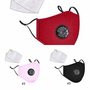 Adult Face Mask Anti-Dust Breathing Valve Earloop Adjustable Reusable Mouth Masks BreC11Q