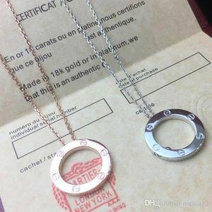 Jewelry Designer amore anello collana placcata oro 18K collana a vite con Rose Gold Platinum Luxury Woman regalo amore 2 colori