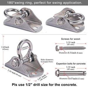Aerial Swing Hangers 450Kg Capacity Ceiling Mount for Yoga Hammock Swing Chair Sandbag Punchbag 304 Stainless Steel