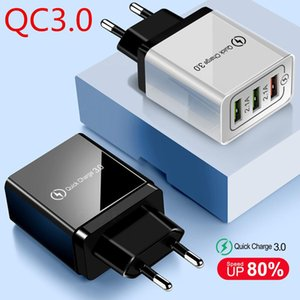 QC3.0 WALL CHARGER Mobile Phone FAST Charger UK EU US Wall Charger Adapter For Samsung S7 S6 S8 note 8