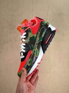 De calidad superior Atmos 90 inversa Pato Camo zapatos corrientes de los hombres multicolores de Deportes