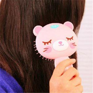 Portable linda del amortiguador creativo Peines animal de la historieta masaje de aire nuevo de la manera Peine precioso cepillo de pelo Escova De Cabelo