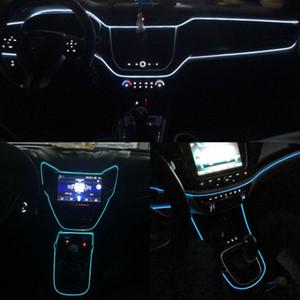JURUS 유니버설 3Meter 10 개 색상 12V 자동차 스타일링 유연한 네온 라이트 발광 EL 와이어 스트립 자동차 LED 장식 자동차 액세서리 램프