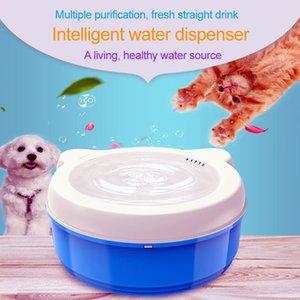 Dog Cat Automatic Water Dispenser Pet Water Dispenser Circular Dish filtro automático de circulação vivo Feeder Supplie