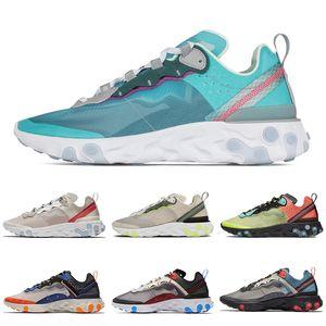 Reagir Elemento 87 Undercover Running shoes mens mulheres Royal Tint Light Orewood Marrom Hyper Fusão Azul Frio Trainer Sneakers Esportes 36-45