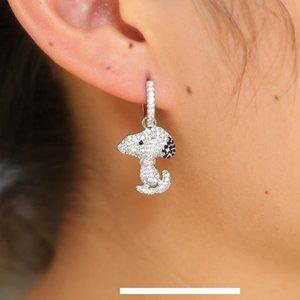 Fashion- elegant cz Animal French Bulldog Earrings for Women Cute Puppy Dog Stud Earrings cute earring girls kids femme 2018 new