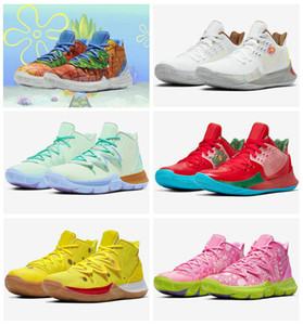 2020 New Sponge x Designer Kyrie Pineapple House 5 Mens tênis de basquete Irving 5s Graffiti Mantenha Sue frescos 20º aniversário Sports Sneakers