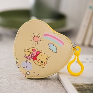 Japan Cartoon San-X Donald Melody Love Heart Shape Pu Leather Coin Purses Keychain Bags Kids Gifts