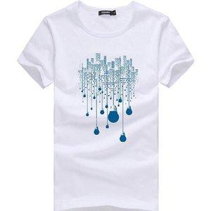 Hombres cortocircuito de la manera camiseta del verano Ropa de la marca de algodón cómodo Male T-Camisa de los hombres la ropa más del tamaño fino Código