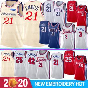 NCAA Joel 21 Embiid Ben 25 Simmons College Basketball Jerseys Allen 3 Iverson Al 42 Horford 33 Harris Men Basketball Jerseys Stitched 2020