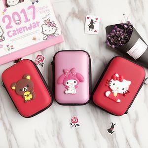 Mini Cartoon Earphone Storage Bag Case For Key Coin Hard Holder Box Carrying Hard Hold Memory Card Ear Pads Travel organizer