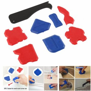 8Pcs Sealant Spatula Caulking Tool Kit Joint Silicone Grout Remover Scraper Grout Tools Plastic Hand Tools Set Accessories #007