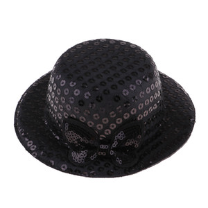 Ronde vintage fait main Doll Paillettes Bowler Hat Pour 1/3 BJD fille poupée Accessoires Jouets pour enfants