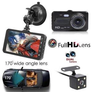 """4"""" Touch-Panel-Auto DVR voller HD dashcam 2Ch Videorecorder Doppelobjektiv vorne 170 ° hinten 120 ° Nachtsicht-G-Sensorschleife Aufzeichnungs"""