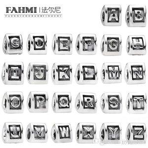 WPENNYI 100% 925 Sterling Silver Nuova 26 lettere di alfabeto collana braccialetto delle donne del braccialetto di fascino in rilievo DIY