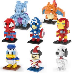 Super Hot 27 tipos Mini Super Hero Figuras Jefes DC Vengadores de Marvel Capitán América Endgame Brick Iron Man Hombre Araña bloquea los juguetes