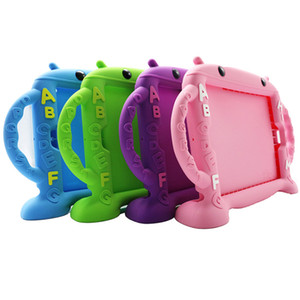 "Para 7,9 Kid Waterproof tampa Tablet Caso ""-10.5"" caso do iPad, à prova de choque Silicone ABC Bumper"