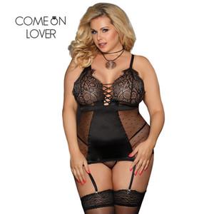 Pizzo raso Comeonlover Nuisette Baby Doll Lenceria Dress cucitura erotica Dessous Women Sexy Lingerie Hot Ri80650 J190612