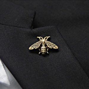 Nouveau Designer Broche Top Mode Abeille Broche Pins Femmes Pin Boucle Broches Bijoux pour Cadeau Argent Or